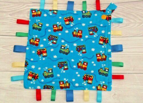 Taggie Blanket Train Comfort Baby Blanket with Detachable Wooden Teether