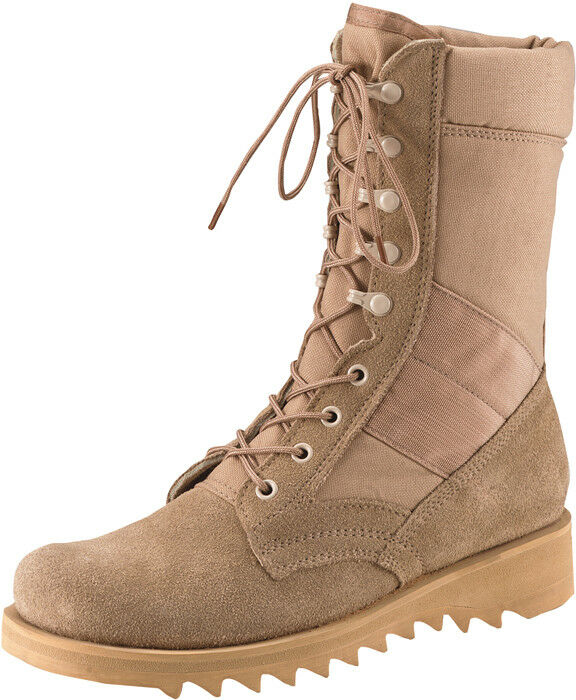 Desert Tan Military Heavyweight Ripple Sole 10  Jungle Leather Stiefel