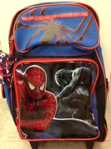 """Licensed Product Spiderman 3 Large Rolling 16/"""" inches Backpack BRAND NEW"""