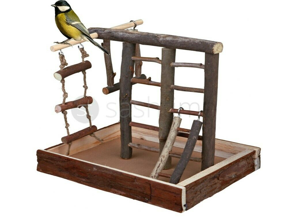 Zerodis Bird Swing Stand Perche Toy with Cotton Rope Climbing Ladder Ring Soft Bed Perch for Small Animals pet Birds