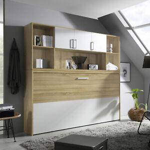 Details Zu Schrankbett Albero Jugendzimmer Kleiderschrank Bettüberbau Eiche Und Weiß 90x100