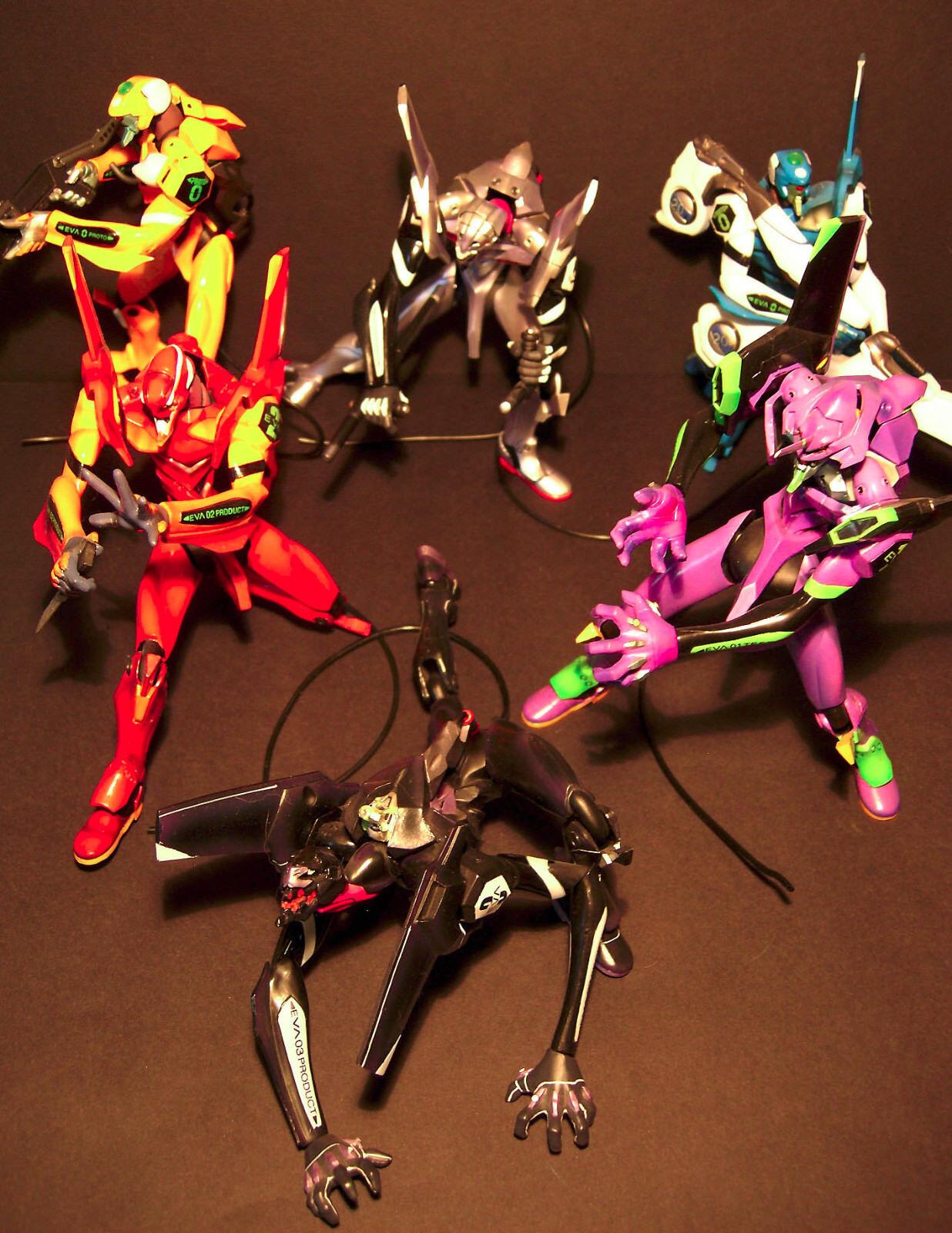 Kaiyodo-Neon Genesis Evangelion Production Model-Set of 6 No Original boxes