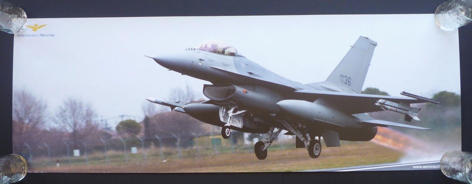 Poster AERONAUTICA MILITARE F-16 F-16 F-16 Fighting Falcon 98x34 - new  entrega gratis