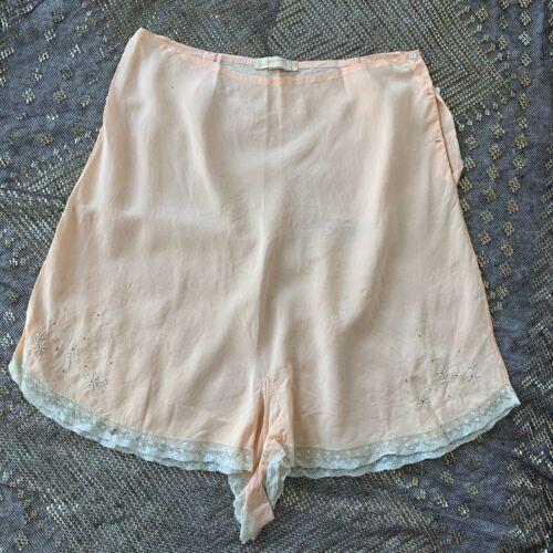 VTG Vintage 30s 1930s Peach Silk Tap Panties Under