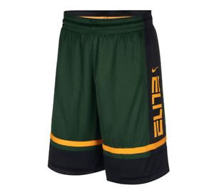 Details about Nike Shorts Mens Small Green with Gold New Dri Fit Elite  Basketball Loose Fit