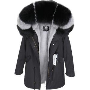bd9d1bfc0f42 2018 Large Real Fox Fur Collar Hooded Coat Women Luxury Winter Warm ...