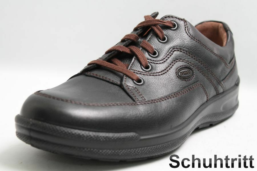 Jomos Schuhe schwarz Leder Wechselsohle in Weite H