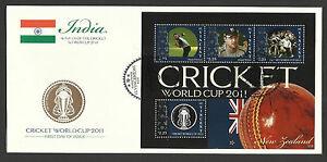 ST-VINCENT-2011-ICC-CRICKET-WORLD-CUP-NEW-ZEALAND-DANIEL-VETTORI-4v-Sheet-FDC