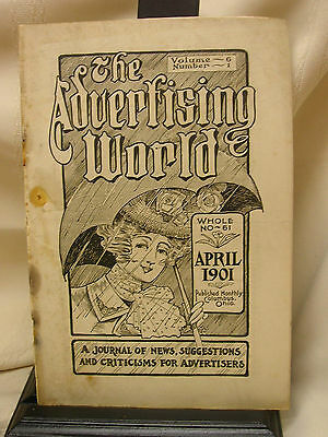 Vintage 1901 The Advertising World Magazine Columbus Ohio 28 Pages Tops Kites