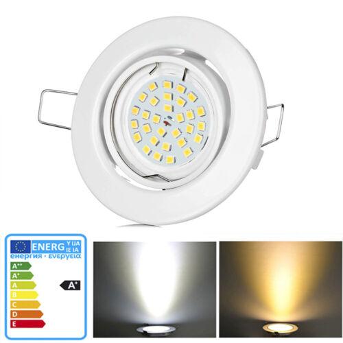 4x 8x LED Einbaustrahler Decken-Spot 230V 5W Decken-Spots Spot Einbau-Leuchten