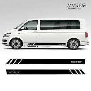 Volkswagen-VW-EDITION-Transporter-Side-Stripe-Decals-T4-T5-T6-Vehicle-Graphic