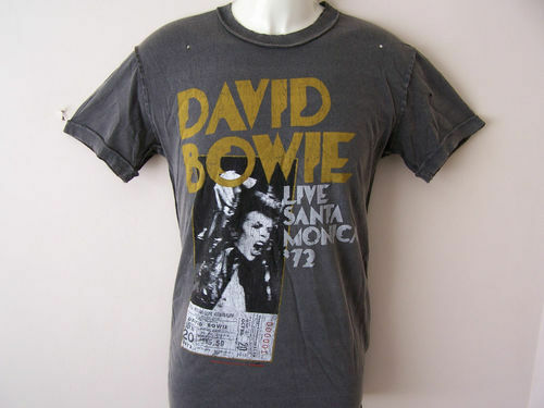 Amplified David Bowie   Herren T shirt Live Santa Monica 1972  S, M, L, XL