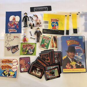Who-Framed-Roger-Rabbit-Figures-Cards-Stickers-Vhs-Bundle