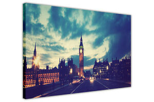 ICONIC-LONDON-BIG-BEN-CANVAS-WALL-ART-PICTURES-LANDMARKS-HOME-DECORATION-PRINTS