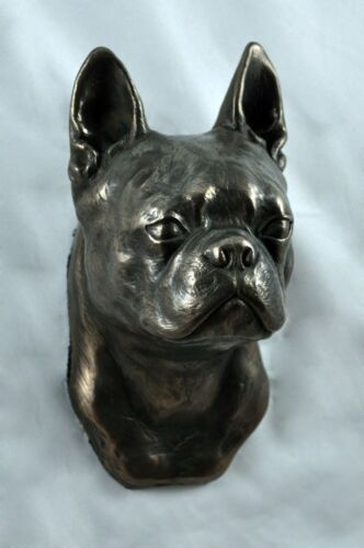 dog statuette to hang on the wall Boston Terrier Art Dog Limited Edition USA