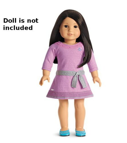 "NEW IN BOX American Girl Lilac Meet Outfit For 18"" Dolls Dress Shoes NIB"