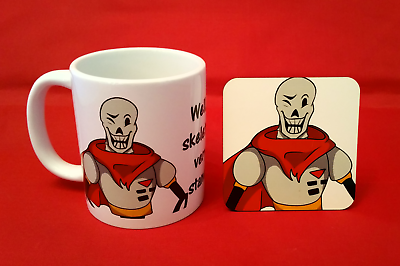 Undertale Undyne Fanart inspired Tea Coffee Mug 10oz and coaster