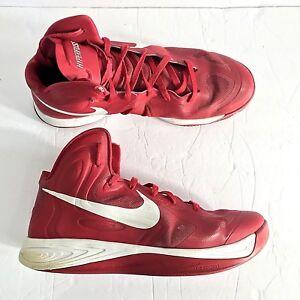 dbdd281a8759 Nike Hyperfuse TB Mens Basketball Shoes Sz 13 Gym Red White 525019 ...