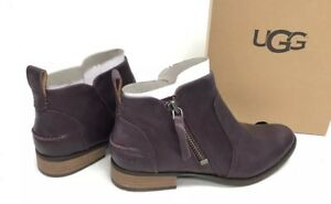 f748bcd2307 Details about UGG Australia WOMEN'S AUREO Oxblood Leather ZIP UP ANKLE  BOOTIES BOOTS 1098314 ~