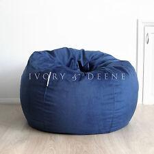 FUR BEANBAG Cover Soft Ocean Blue Velvet Cloud Chair Bean Bag Reading Relaxing