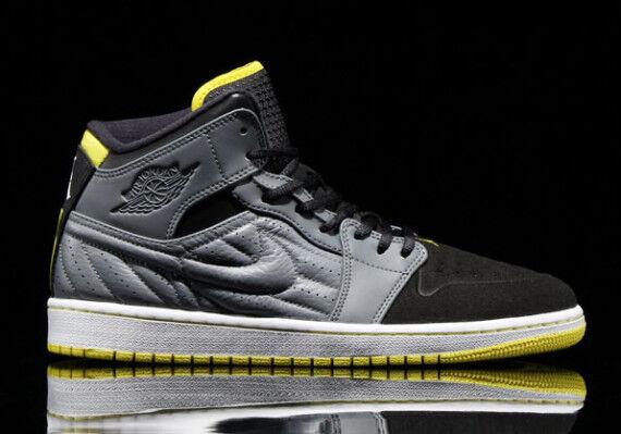 Nike Air Jordan 1 Retro '99 Cool Grey Vibrant Yellow Black White 654140-032