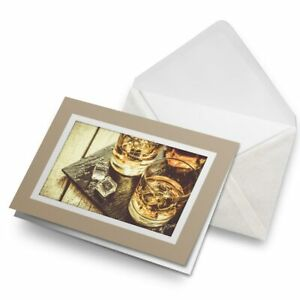 Greetings-Card-Biege-whiskey-Glasses-Drink-Whisky-Alcohol-16212