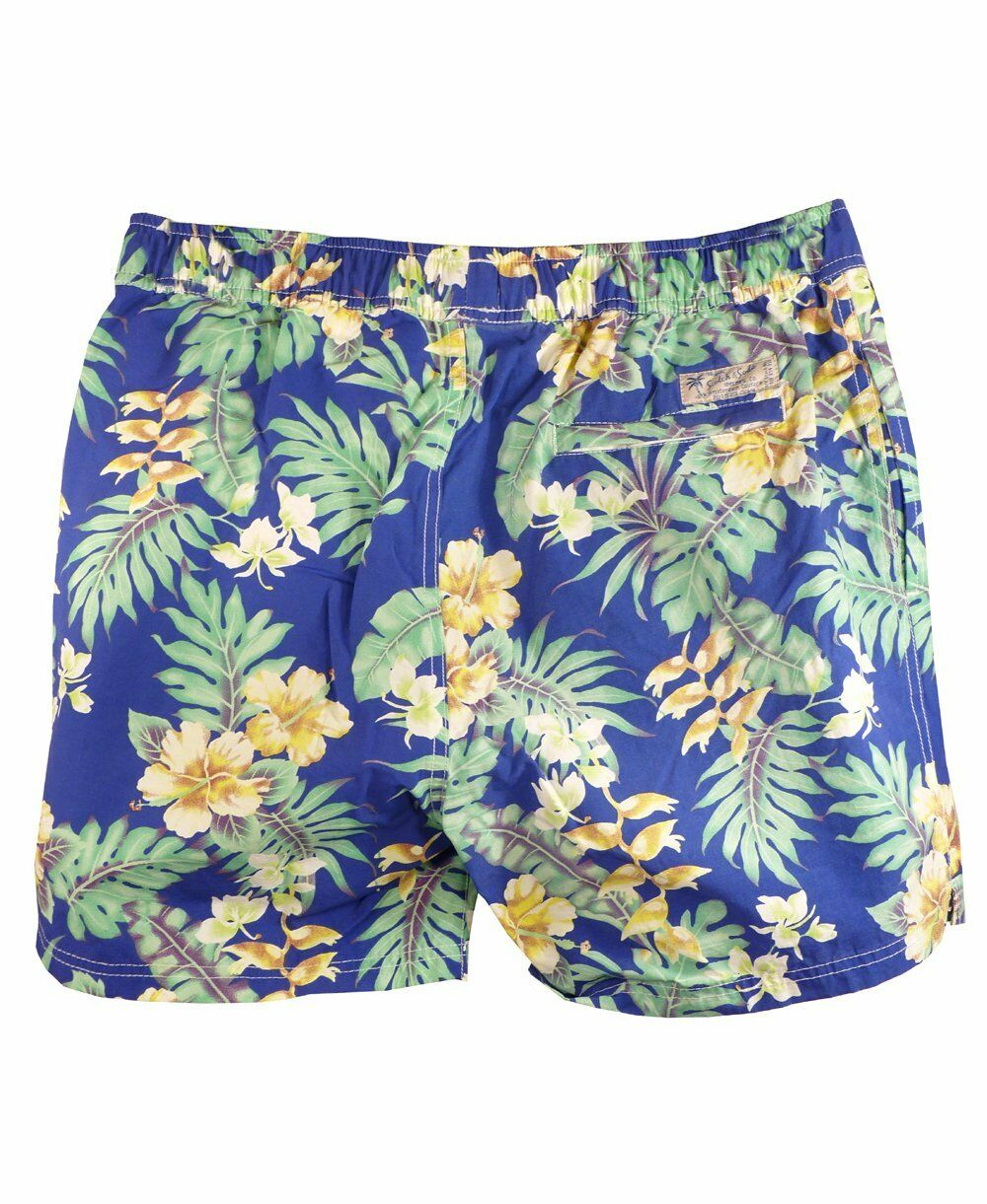 Scotch & Soda bluee & Green Floral Swim Shorts Size M Medium New with Tags