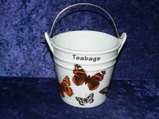 Butterly Teabag tidy bucket shaped used teabag pot, perfect for a good quantity