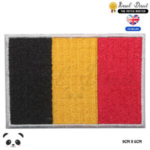 Belgium-National-Flag-Embroidered-Iron-On-Sew-On-Patch-Badge-For-Clothes-etc