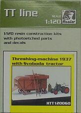 Dreschmaschine mit Svoboda Traktor 1937, Hauler, 1/120, TT, Resin , Ätzteile NEU