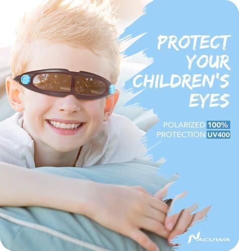 Nacuwa Kids Sunglasses Racing Style Sunglasses Boys Age 3-10 Kid Goggles Eyewear