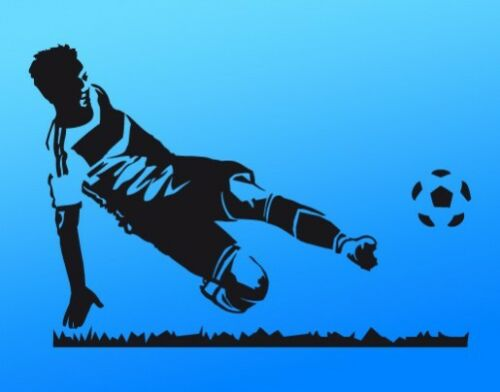 Tapisserie de football-Joueur enfants chambre footballeur porte tir pelouse wal218