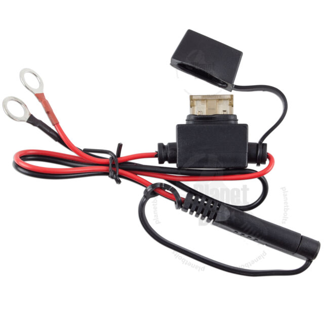 Motorcycle battery terminal ring connector harness 12v charger Y adapter YXFR