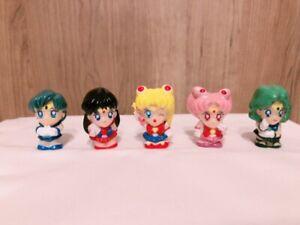 Sailor-Moon-Finger-PUPPET-Figure-Doll-5-Set-Vintage-Kawaii-Cute-From-Japan