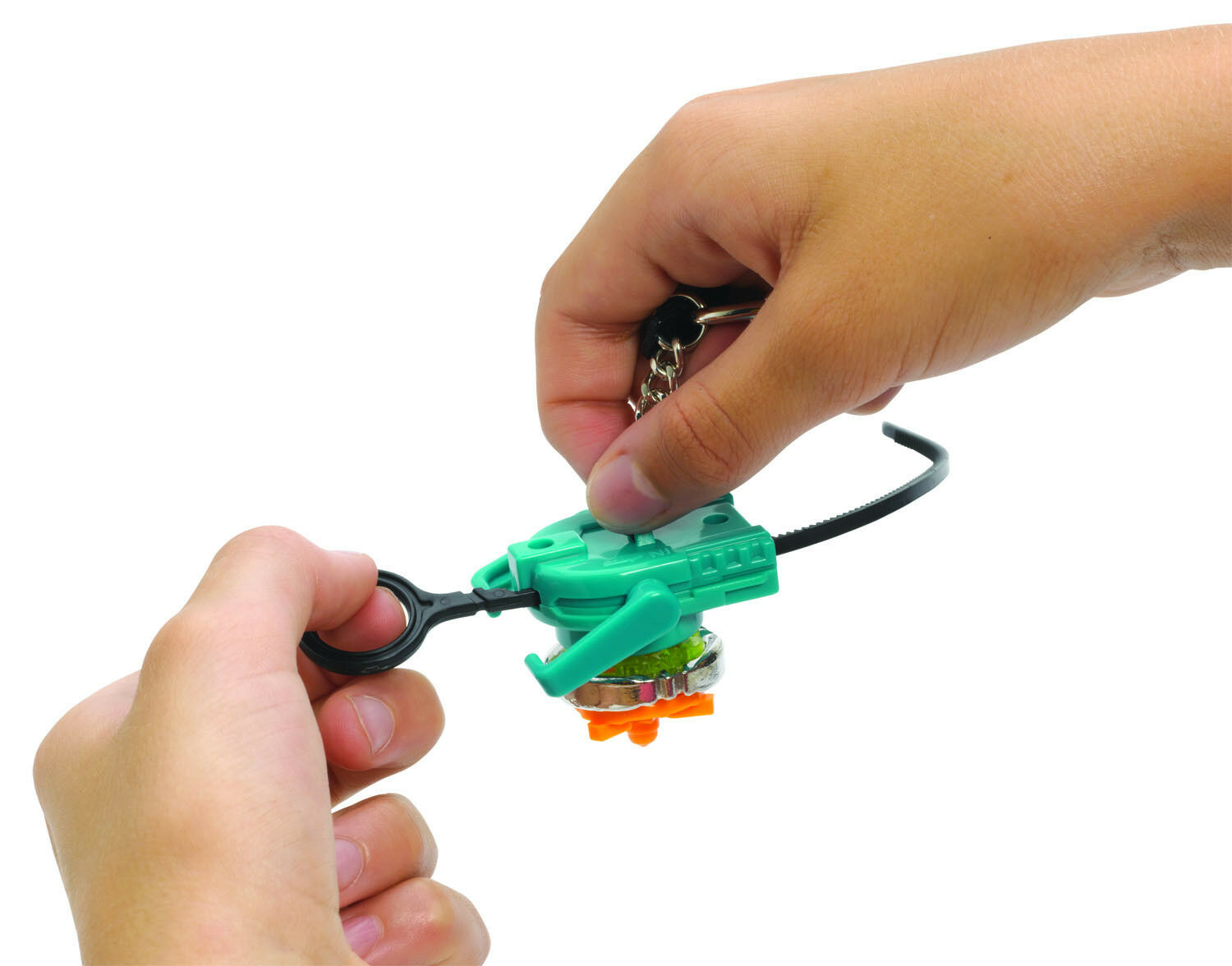 Beyblades GRAVITY DESTROYER Top Keychain Keyring w// Launcher Ripcord S6 1943 New