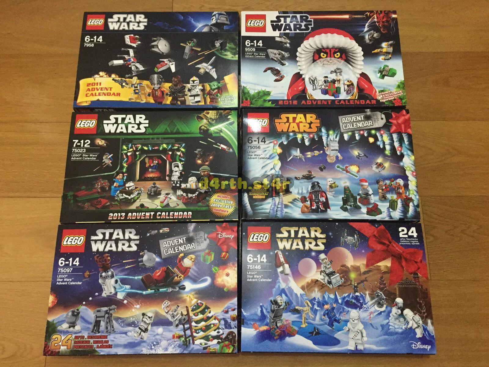 NEW  Lego Star Wars Seasonal Advent Calendars Collection  NO MINIFIGURES