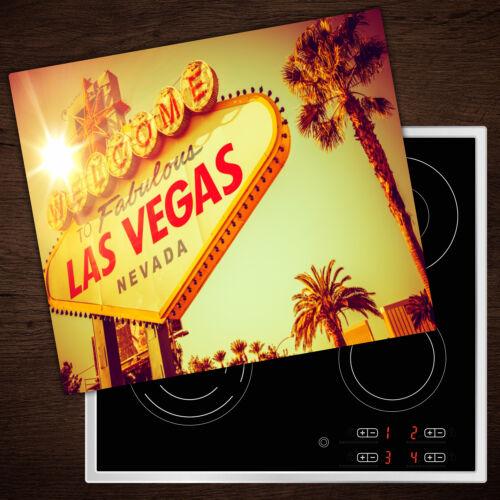 60x52 cm Herd-Abdeckplatte Glas Ceranfeld-Abdeckung Deko Las Vegas Neon