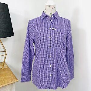 RM-Williams-Womens-Olivia-Shirt-Purple-Check-Long-Sleeve-Button-Down-Size-12-NWT
