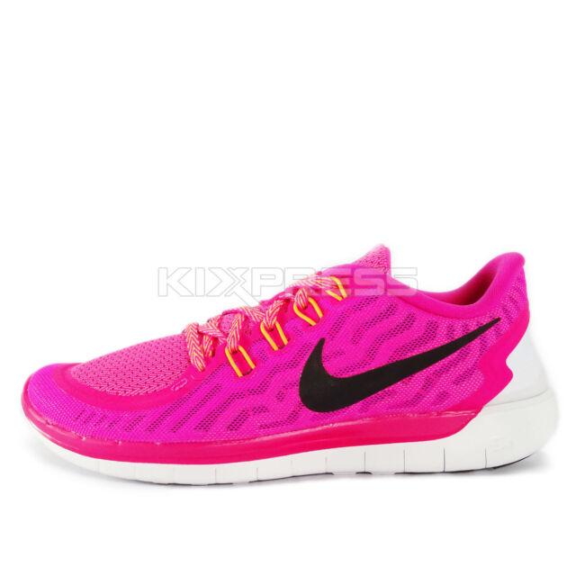 5ab9933a4bf Nike Womens Pink Foil POW Bright Citrus Black 5.0 Running Shoe 9.5 ...