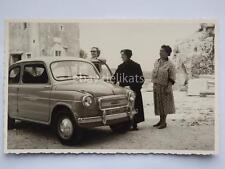 TRIESTE FIAT 600 1958 auto automobile vecchia cartolina Albona Istria