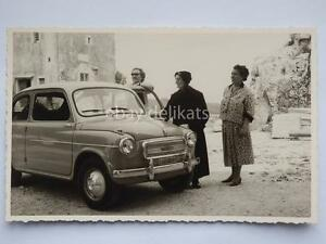 TRIESTE-FIAT-600-1958-auto-automobile-vecchia-cartolina-Albona-Istria