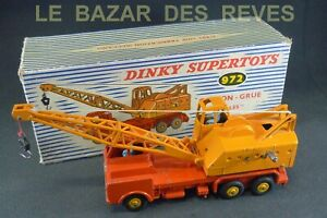 DINKY-TOYS-FRANCE-Camion-grue-COLES-REF-972-Boite