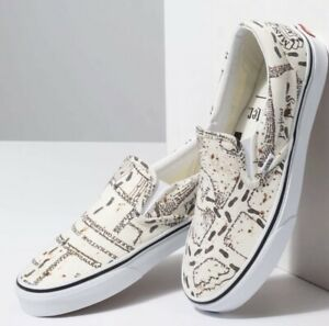 Details about SOLD OUT VANS x HARRY POTTER Marauders Map Classic Slip On Shoes Men's 11.5 HTF