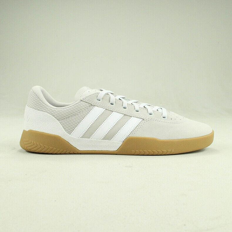 Adidas City Cup Trainers schuhe Weiß Chalk Gum in UK Größe 6
