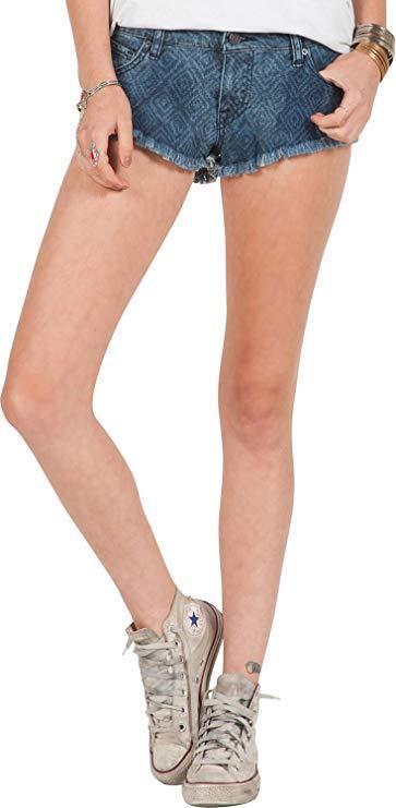Volcom Women's Yae Micro Shorts Washed bluee 5 X 1.5