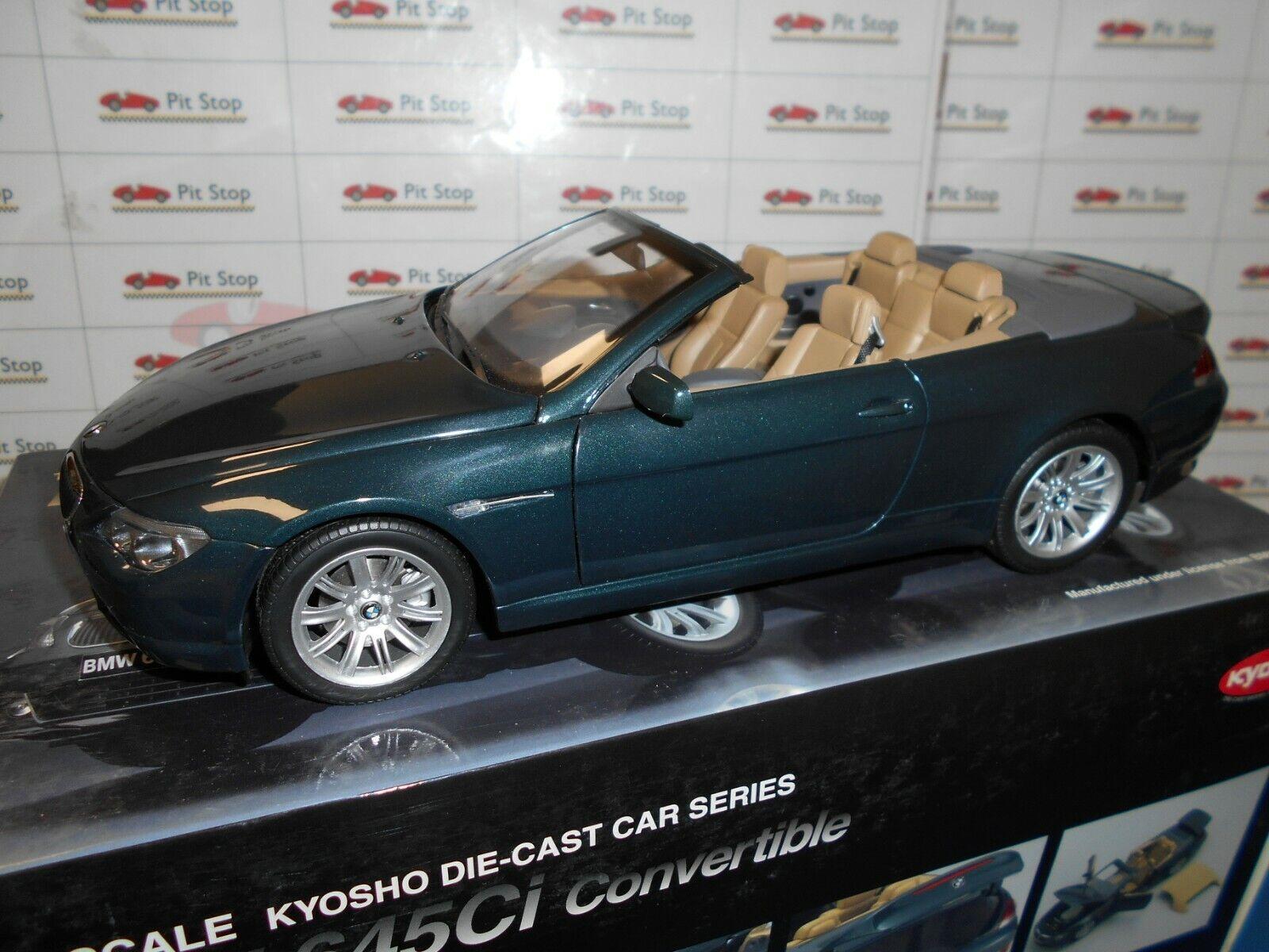 KYO08702DG by KYOSHO BMW 645CI CONverdeIBLE DARK verde MET. 1 18