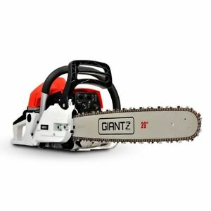 Giantz 62cc Petrol Commercial Arborist Chainsaw - CSAW62CC20INRDWH