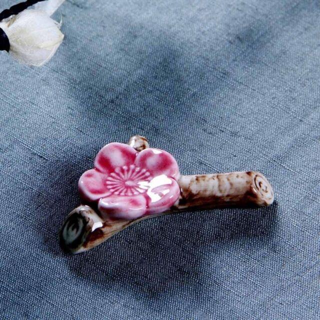 Porcelain Holder Stand Blossom Flower Spoon Fork Tableware Rest Ceramic Ware