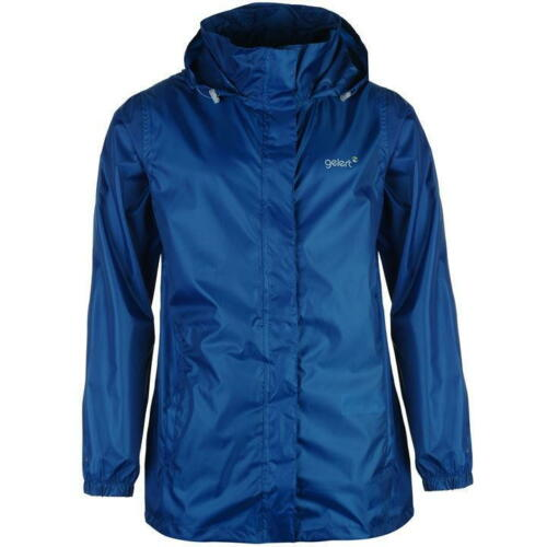 MENS GELERT BLUE WATERPROOF FULL ZIP LIGHTWEIGHT POCKETS COAT JACKET XS-XXL
