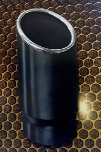 """2/"""" 51mm CHROME EXHAUST TIP ANGLE CUT ROLLED IN"""